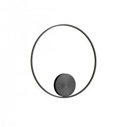 Aplica  structura din aluminiu si metal vopsita negru mat ORBIT  01-1960