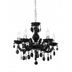 Lustră Bolero pentru interior, structură din metal cromat și acrilat negru.06-003 Smarter