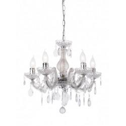 Lustră Bolero pentru interior, structură din metal cromat și acrilat transparent. 06-006 Smarter