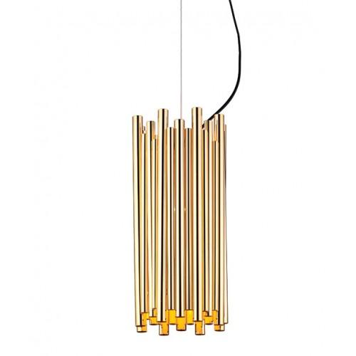 Pendul modern cu dispersor metalic auriu 1625 Zambelis